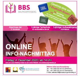 Meeting-Links zum Online Informationsnachmittag